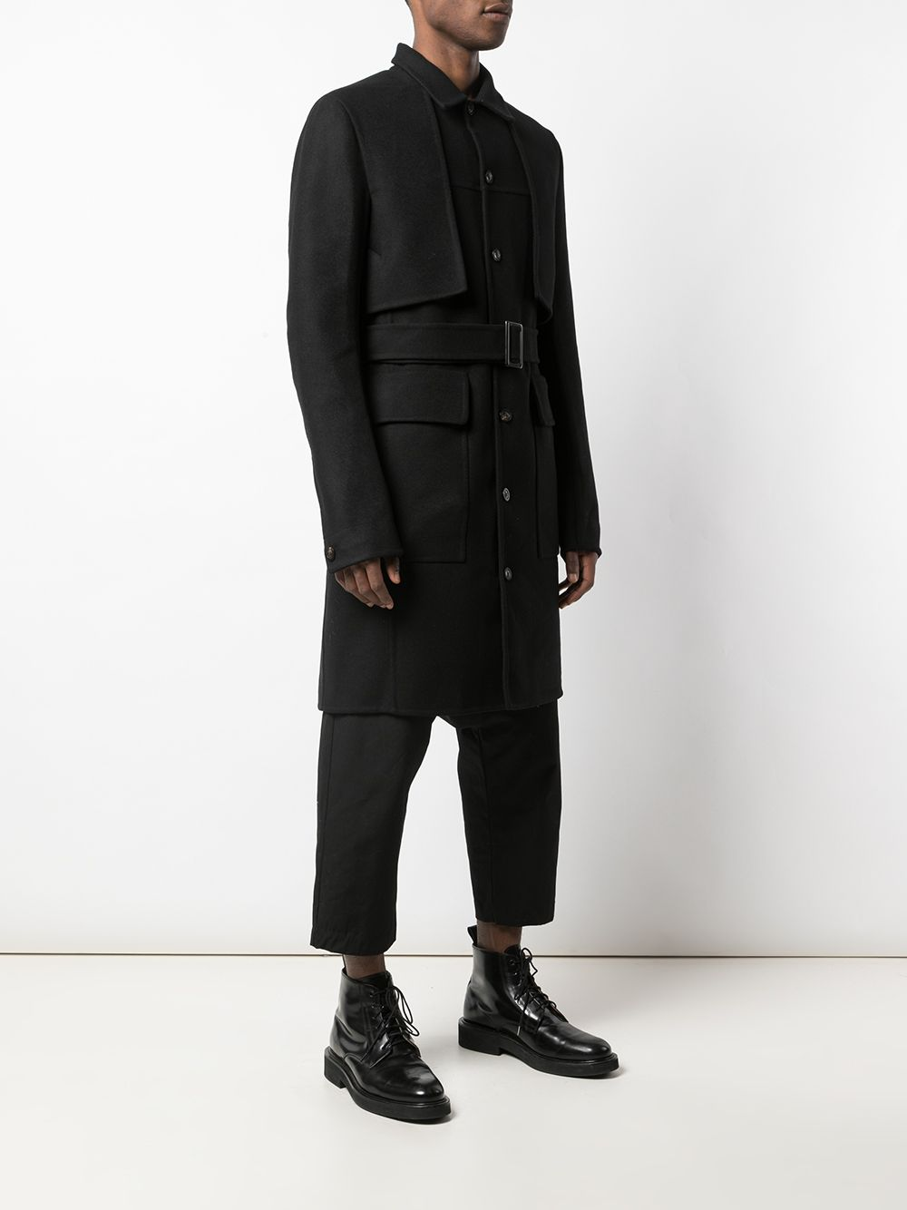 RICK OWENS MEN TRENCH COAT