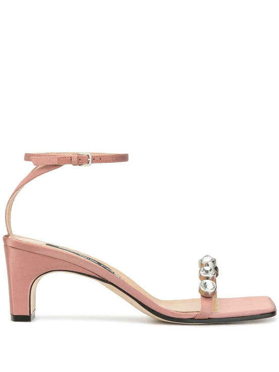SERGIO ROSSI WOMEN SR1 CRYSTAL SANDALS