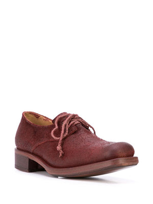 CHEREVICHKIOTVICHKI WOMEN WAXED HORSE SUEDE SQUARE DERBY GOODYEAR