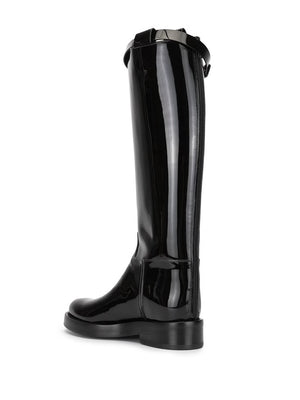 ANN DEMEULEMEESTER WOMEN PATENT LEATHER RIDING BOOTS