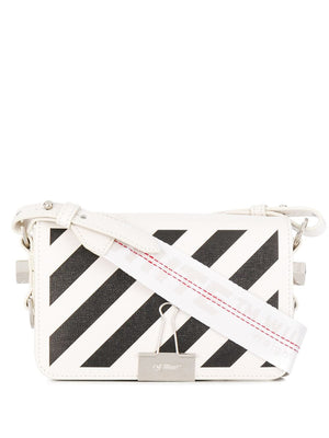 OFF-WHITE WOMEN DIAG MINI FLAP BAG