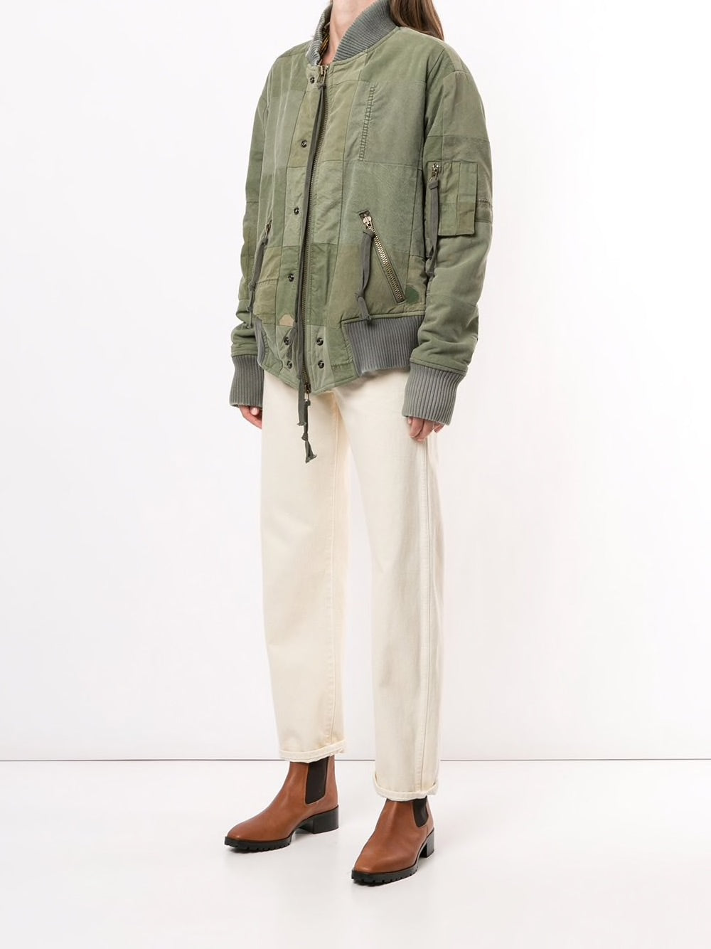 GREG LAUREN MEN TENT SCRAPWORK FLIGHT JACKET
