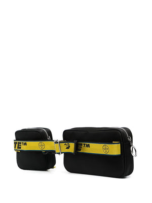 OFF-WHITE MEN OW LOGO DOUBLE NYLON BODYBAG