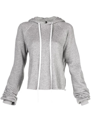 UNRAVEL PROJECT WOMEN COTTON CASHMERE OVER SLEEVE HOODIE