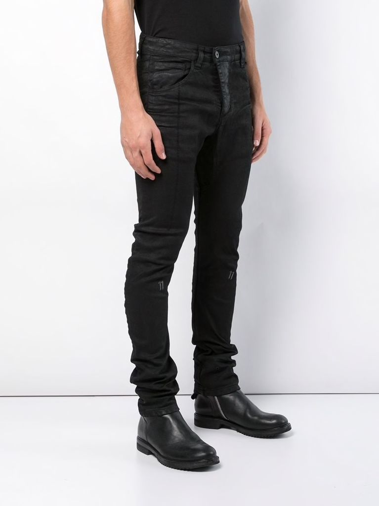 11 BY BORIS BIDJAN SABERI MEN WAXED CURVE LEG PANT