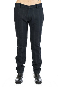 GEOFFREY B SMALL MEN SLIM LEG TROUSER WITH DIAGONAL POCKETS WITH BACK YOKE