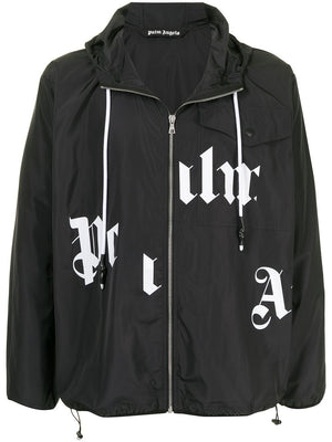 PALM ANGELS MEN BROKEN LOGO WINDBREAKER