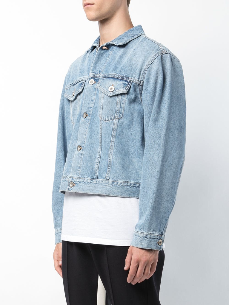 UNRAVEL MEN INTRO H RIGID DENIM CHOPPED JACKET