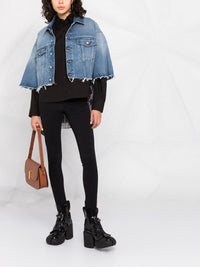 MM6 WOMEN CROPPED SHORT DENIM JACKET