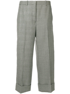 THOM BROWNE WOMEN SACK TROUSER IN FUNMIX POW BRITISH WOOL