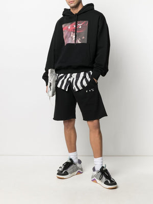 OFF-WHITE MEN SPRAYED CARAVAGGIO OVER HOODIE