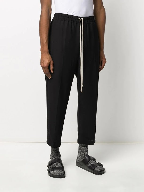 RICK OWENS MEN DRAWSTING ASTAIRES CROPPED PANTS