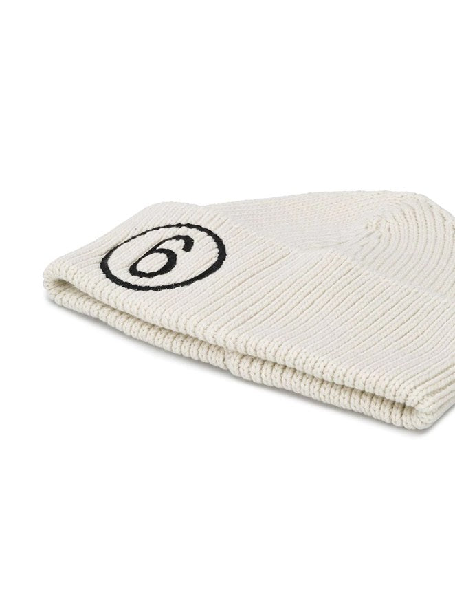 MM6 WOMEN LOGO KNITTED BEANIE