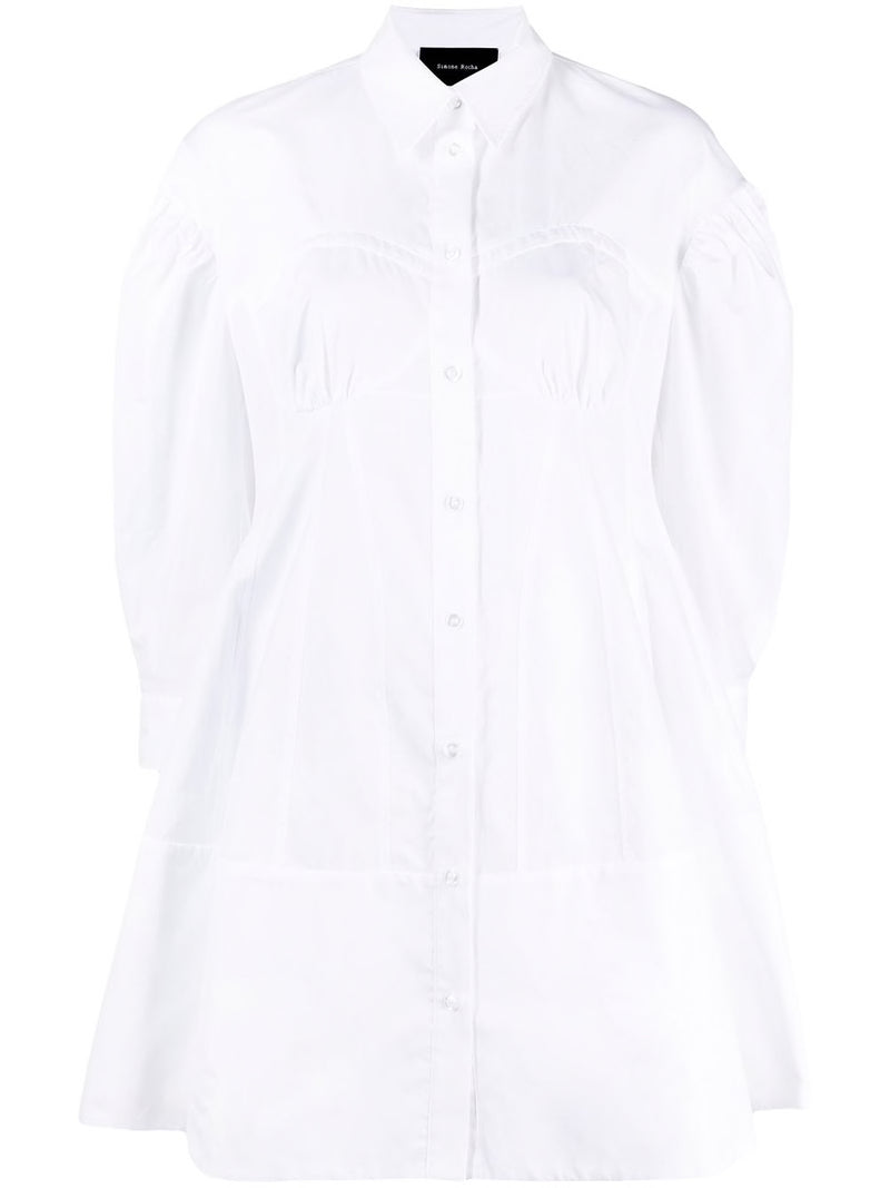 SIMONE ROCHA WOMEN CORSET DETAILED SHIRT DRESS