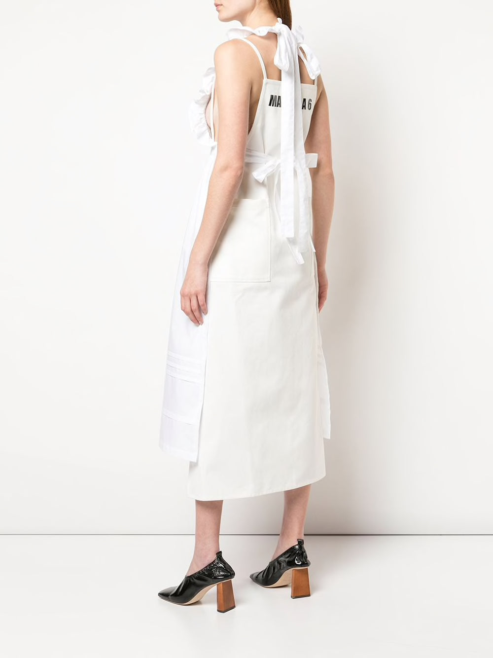 MM6 WOMEN 2 WAY LOGO LONG APRON DRESS