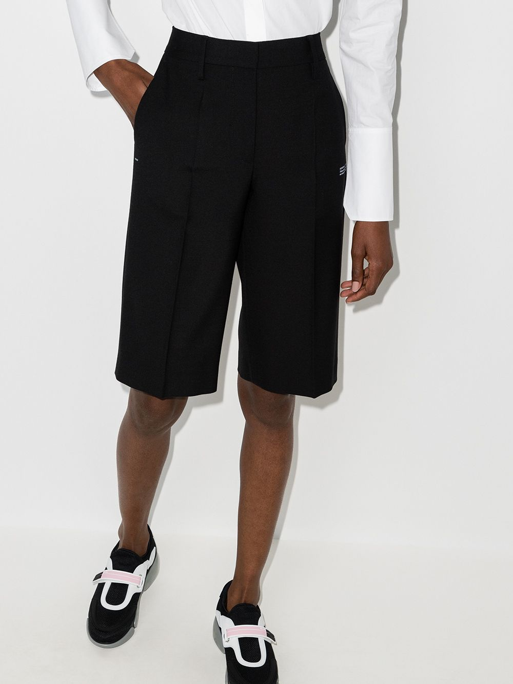 OFF-WHITE WOMEN FORMAL SHORTS BLACK NO COLOR