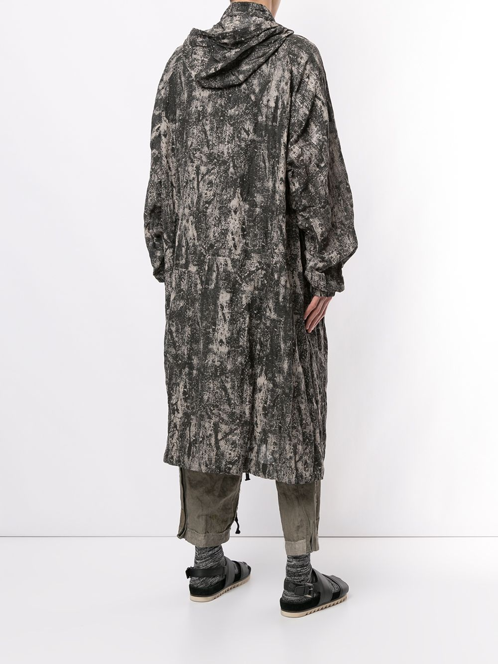 ZIGGY CHEN BRUSH STROKE PRINTED PARKA