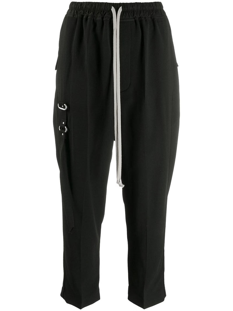 RICK OWENS WOMEN DRAWSTRING CROPPED ASTAIRE PANTS
