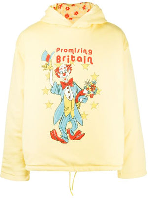 MARTINE ROSE MEN HOODIE WITH CLOWN ARTWORK