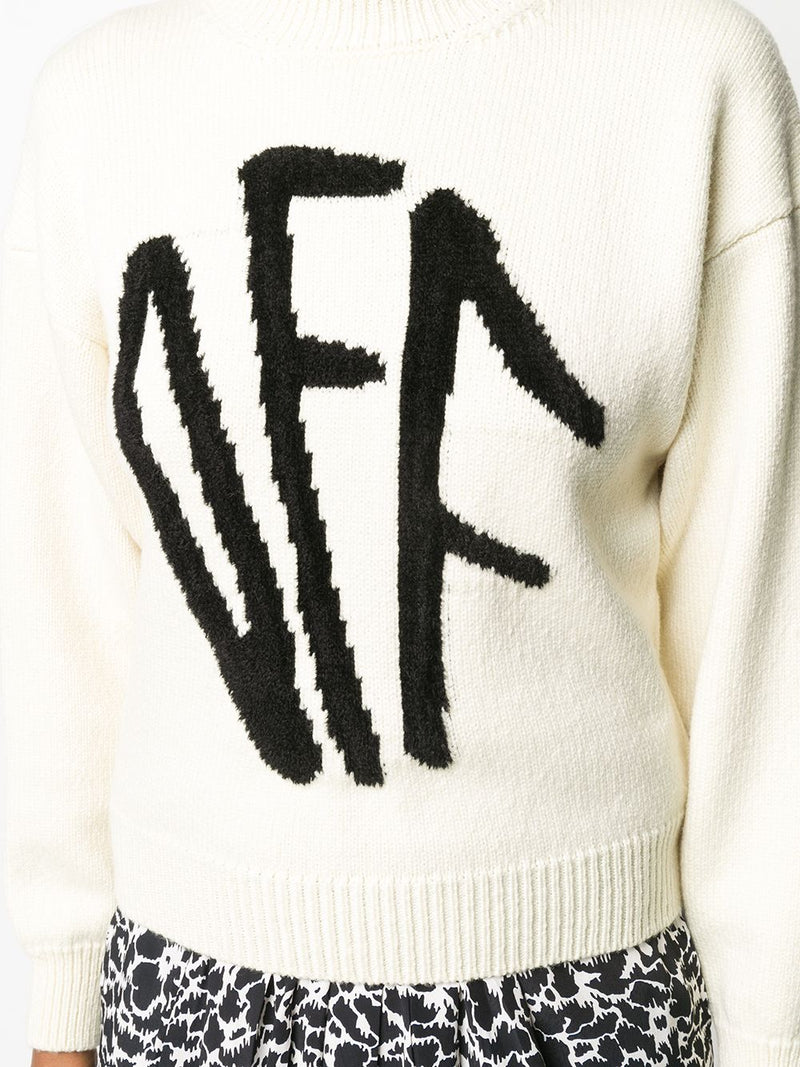 OFF-WHITE WOMEN OFF WHITE GRAFFITI CREWNECK