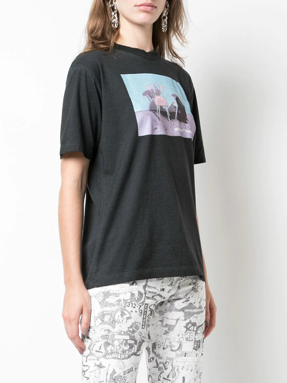 OFF-WHITE WOMEN PAINTING CHAIR CASUAL TEE