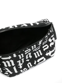 PALM ANGELS MEN BROKEN MONOGRAM FANNY PACK