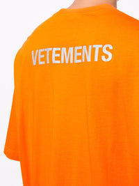 VETEMENTS MENS KNIT STAFF REFLECTOR T- SHIRT