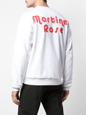 MARTINE ROSE MEN REVERSIBLE CREWNECK SWEATSHIRT