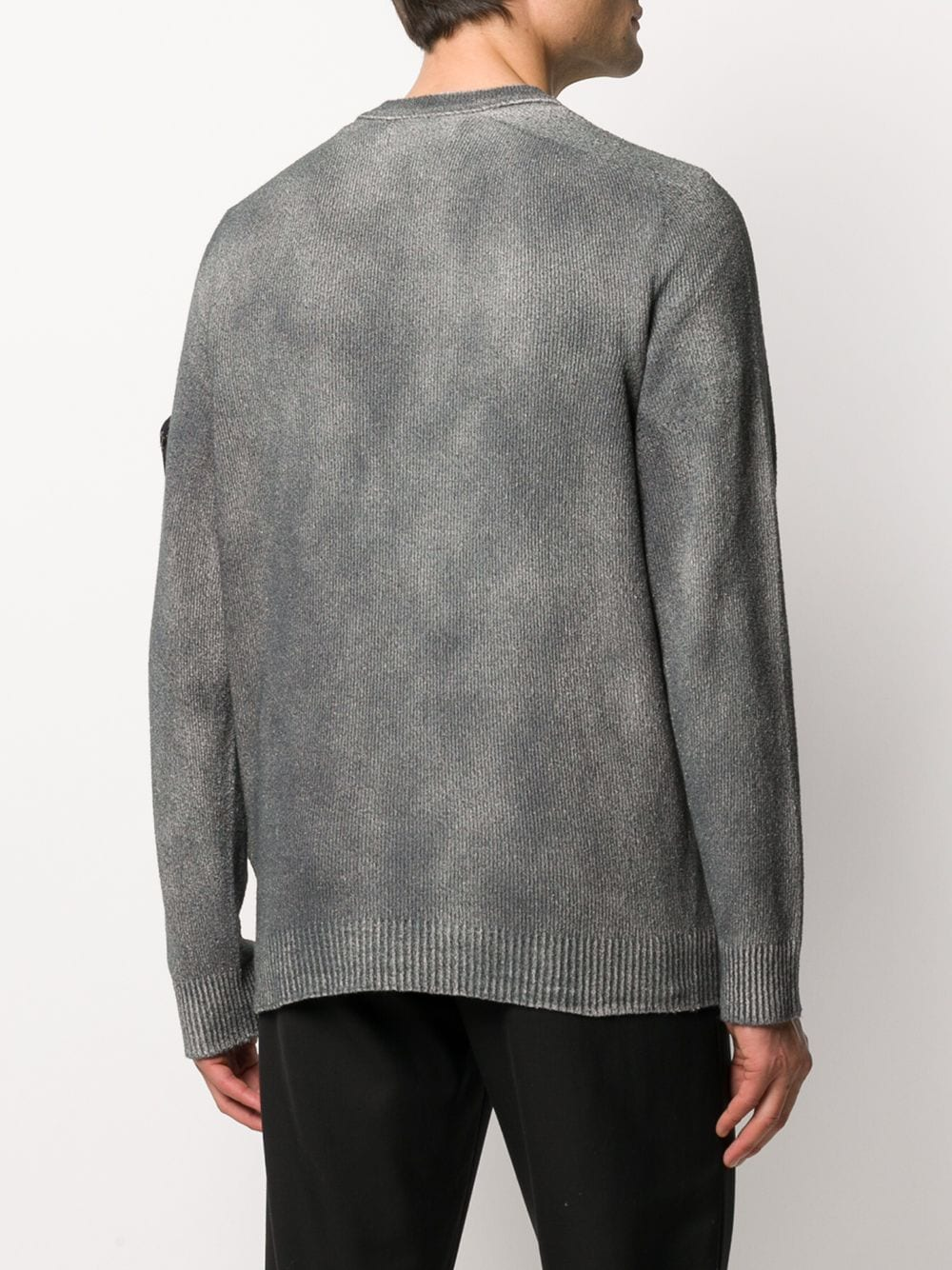 STONE ISLAND MEN TWO TONED SWEATER