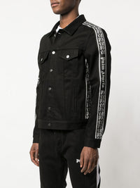 PALM ANGELS MEN SIDE TAPE TRUCKER JACKET