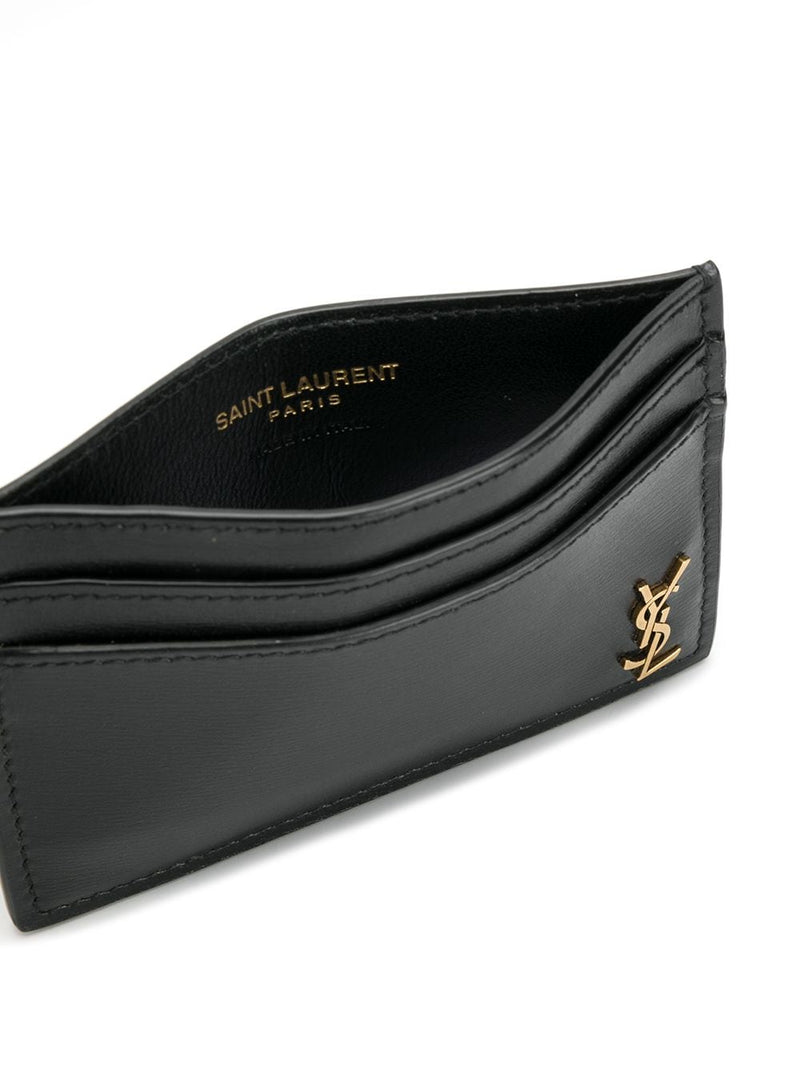 SAINT LAURENT MEN LOGO CREDIT CARD HOLDER