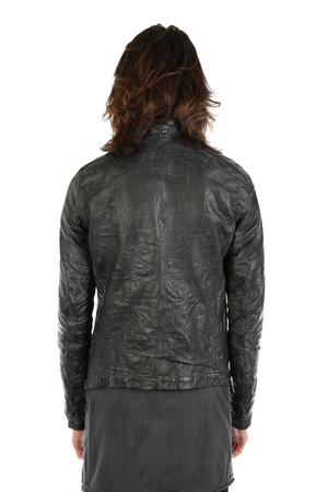 LAYER-0 MEN ZIP UP LEATHER JACKET