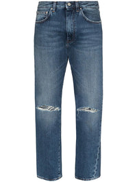 TOTEME WOMEN DENIM WITH RIPPED DETAILS