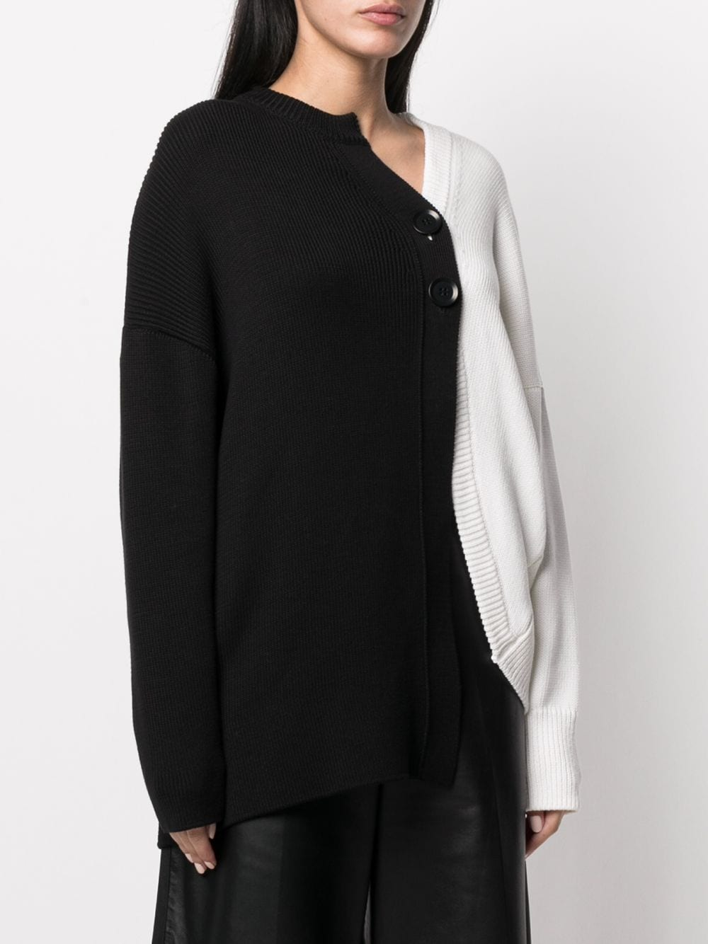 Y'S WOMEN COLORED LONG SLEEVE CARDIGAN