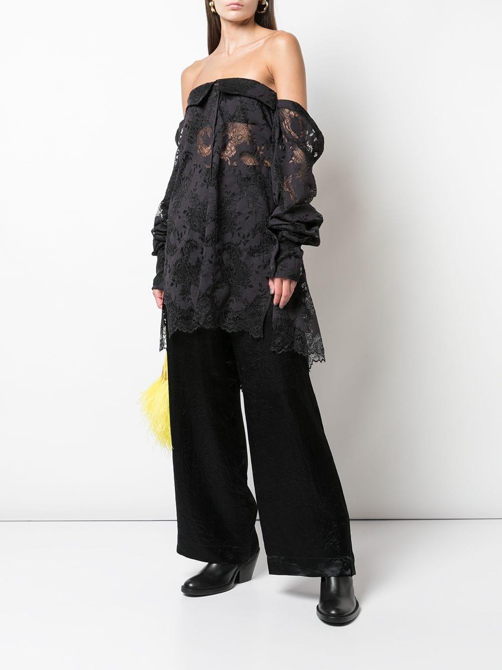 ANN DEMEULEMEESTER WOMEN OFF SHOULDER SHIRT