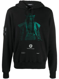 UNDERCOVER MEN THRONE OF BLOOD PRINTED HOODIE