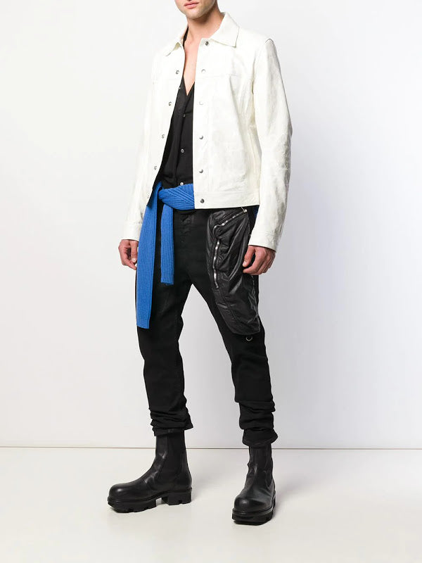 RICK OWENS MEN V NECK SNAP CARDIGAN