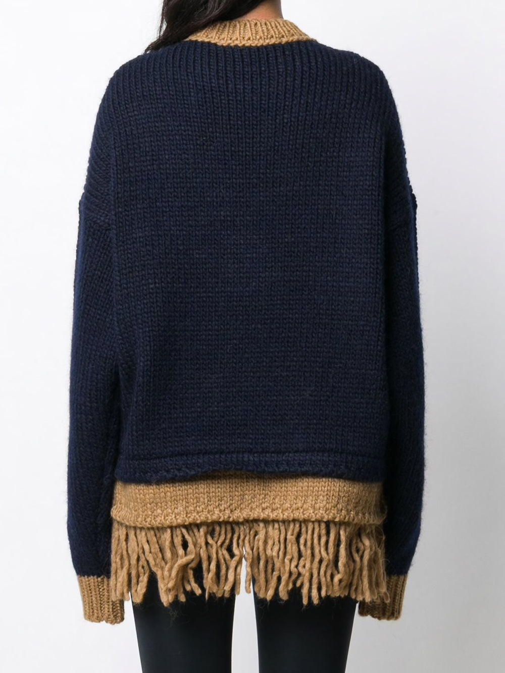 PALM ANGELS PALM BEAR FRINGED SWEATER