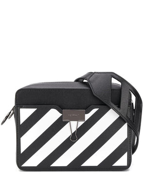 OFF-WHITE WOMEN DIAG CAMERA BAG BLACK WHITE