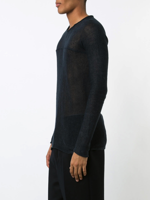 MA+ ROUND NECK CROSS PULLOVER