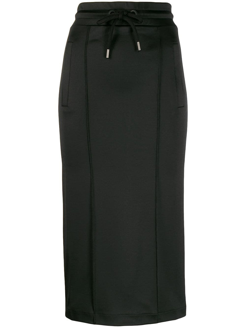 PALM ANGELS WOMEN PENCIL TRACK SKIRT