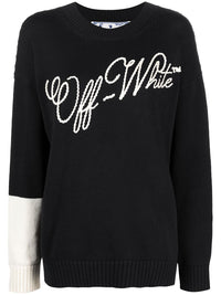 OFF WHITE WOMEN EMBROIDERY LOGO OVER CREWNECK