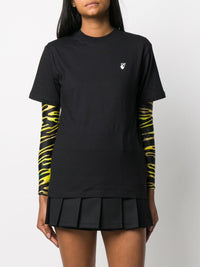 OFF-WHITE WOMEN FLOCK ARROW CASUAL TEE