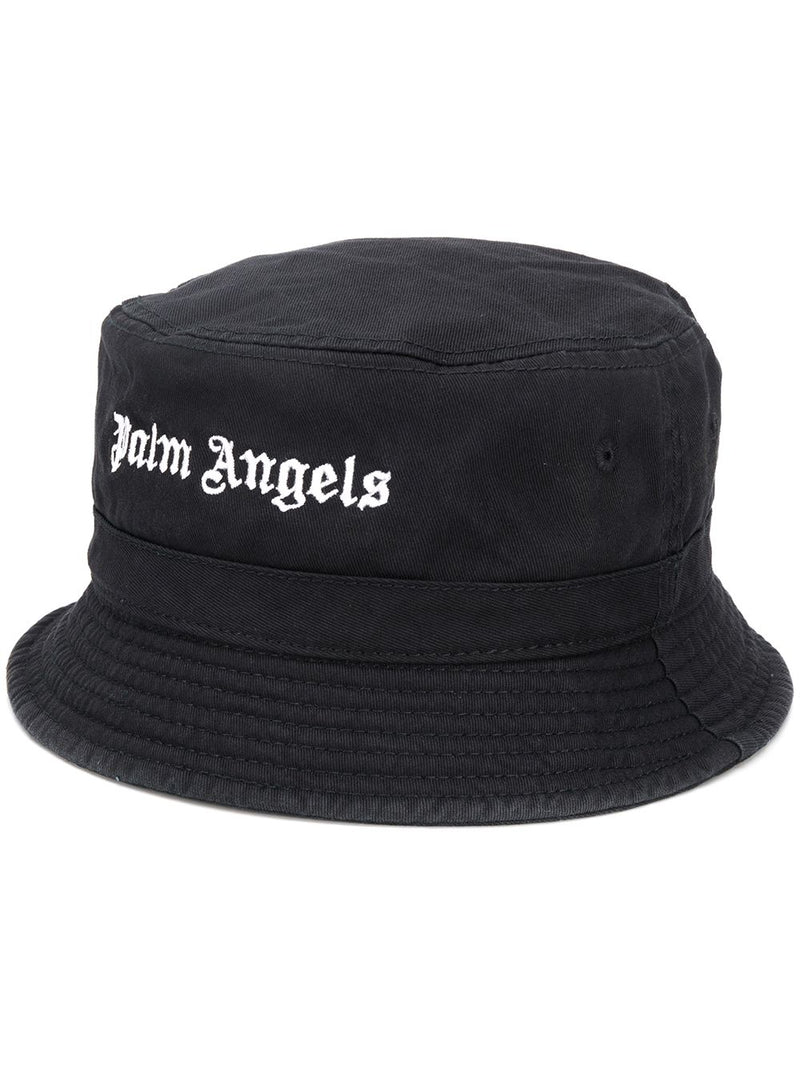 PALM ANGELS WOMEN CLASSIC LOGO BUCKET HAT