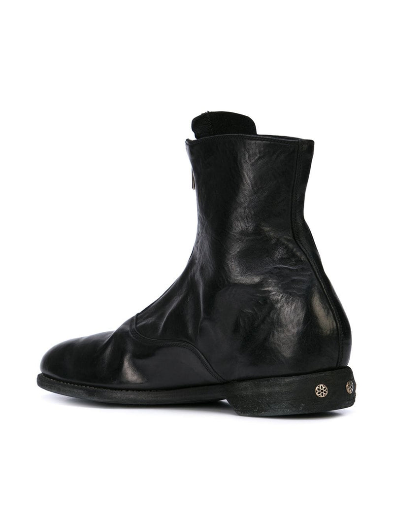 GUIDI X GOOD ART HLYWD 210 SHORT FRONT ZIP MILITARY BOOT
