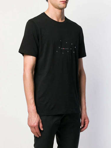 SAINT LAURENT MEN STAR LOGO PRINT T-SHIRT