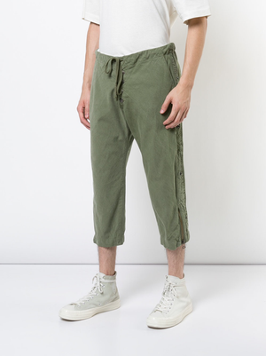 GREG LAUREN MEN ARMY TENT SLIM LOUNGE PANT