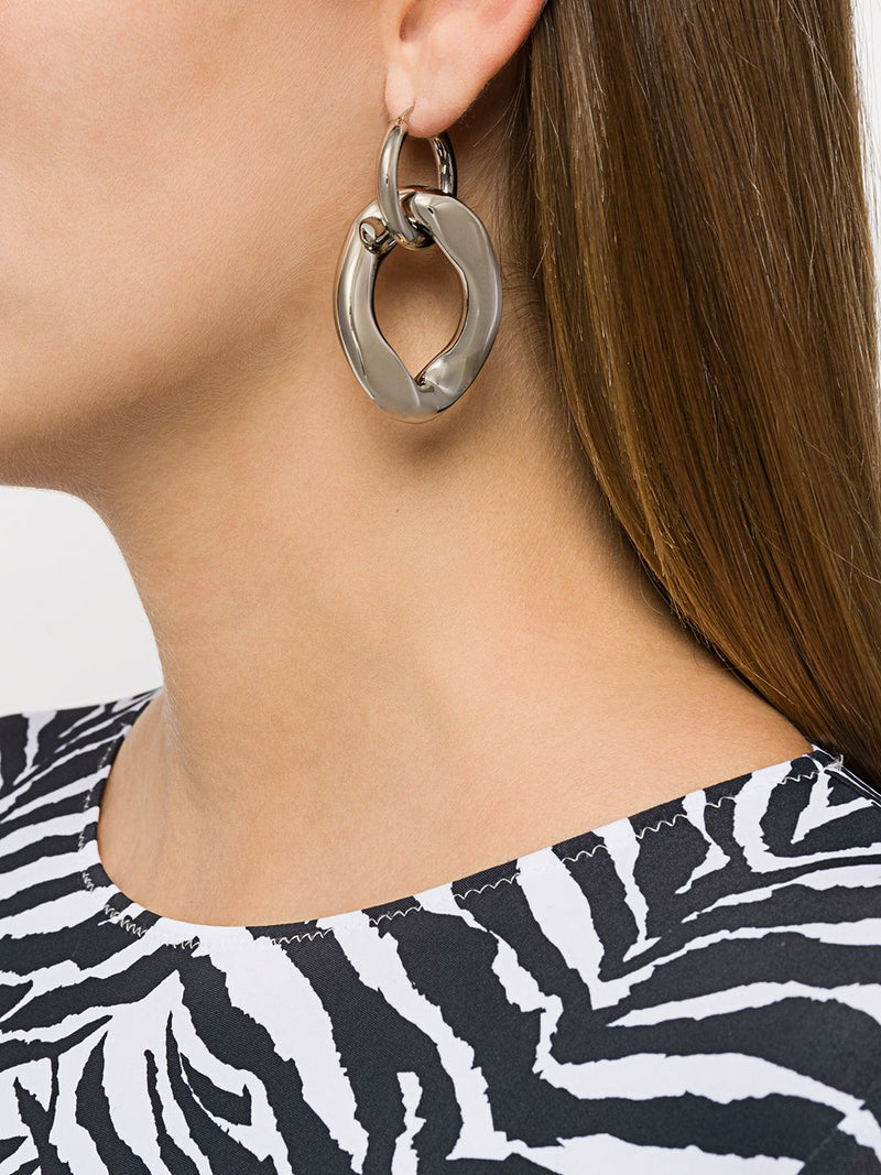 MM6 WOMEN CURB CHAIN LINK EARRING