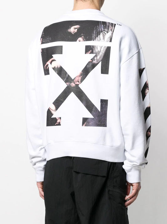 OFF-WHITE MEN CARAVAGGIO ARROW OVER CREWNECK