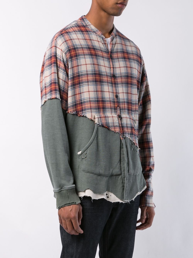 GREG LAUREN MEN 50/50 RODEO / ARMY THERMAL STUDIO SHIRT